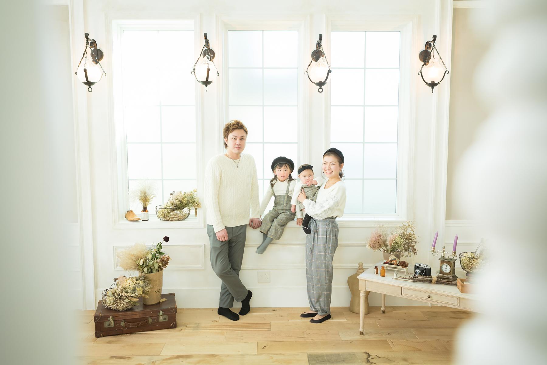 100周年 おそろい 家族写真