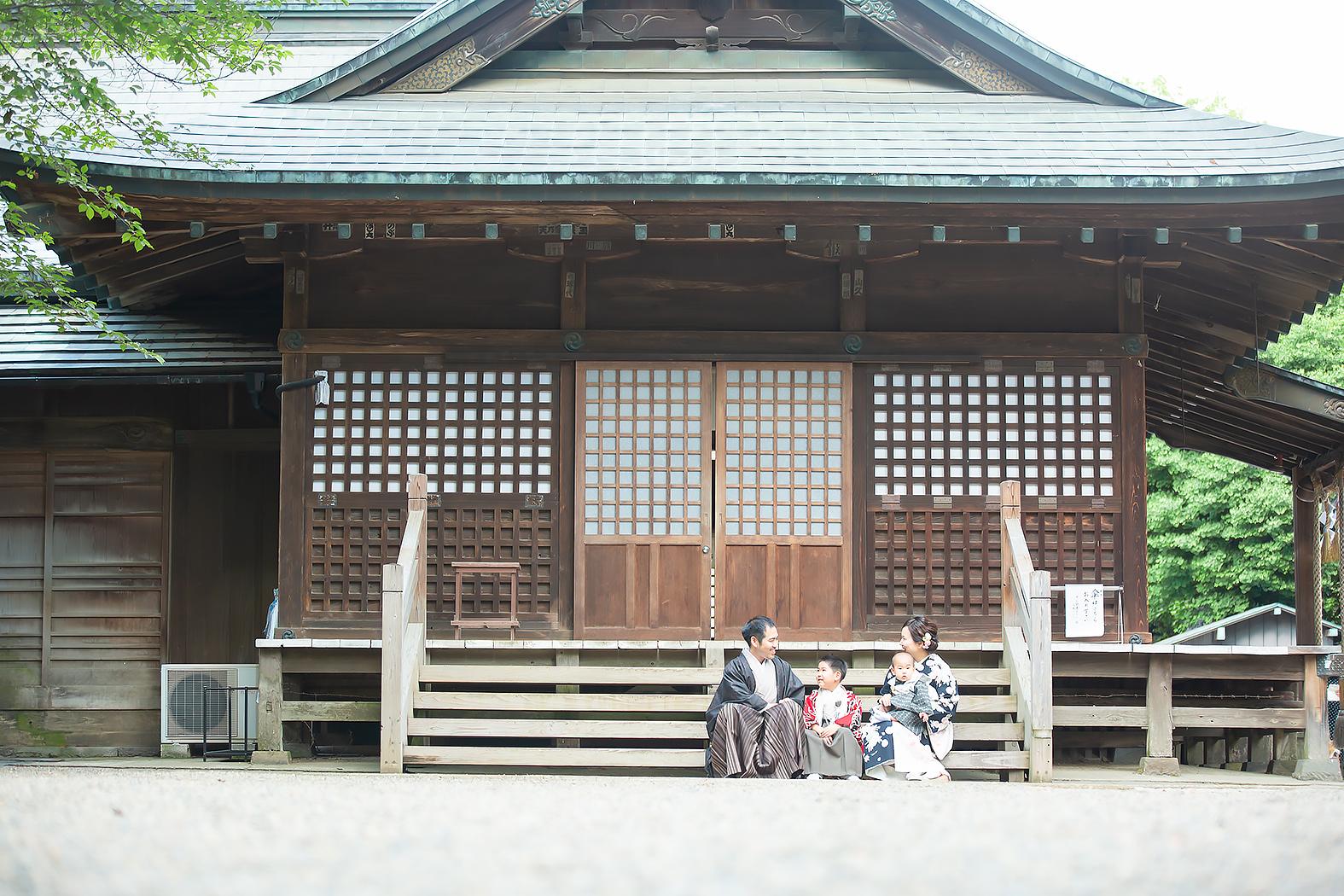 七五三 着物 神社お参り 鷲宮神社