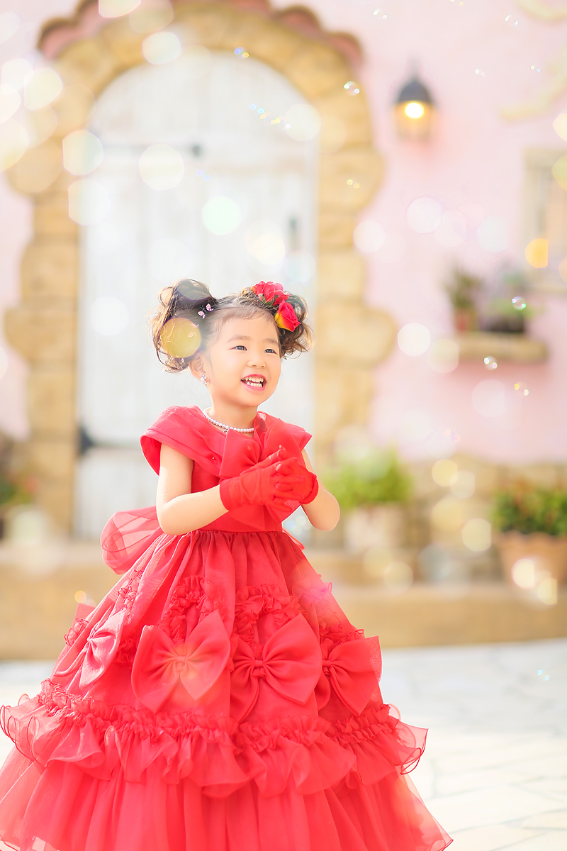 七五三、ドレス、3歳