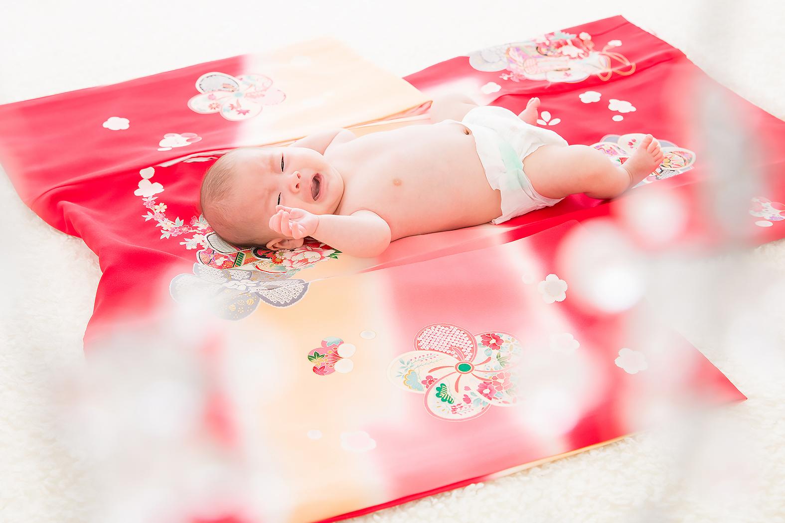 お宮参り,赤ちゃん,家族写真