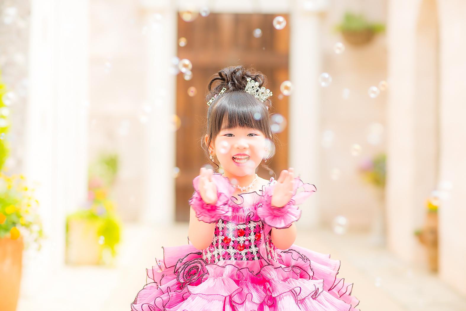 七五三,前撮り,3歳,可愛い,ドレス
