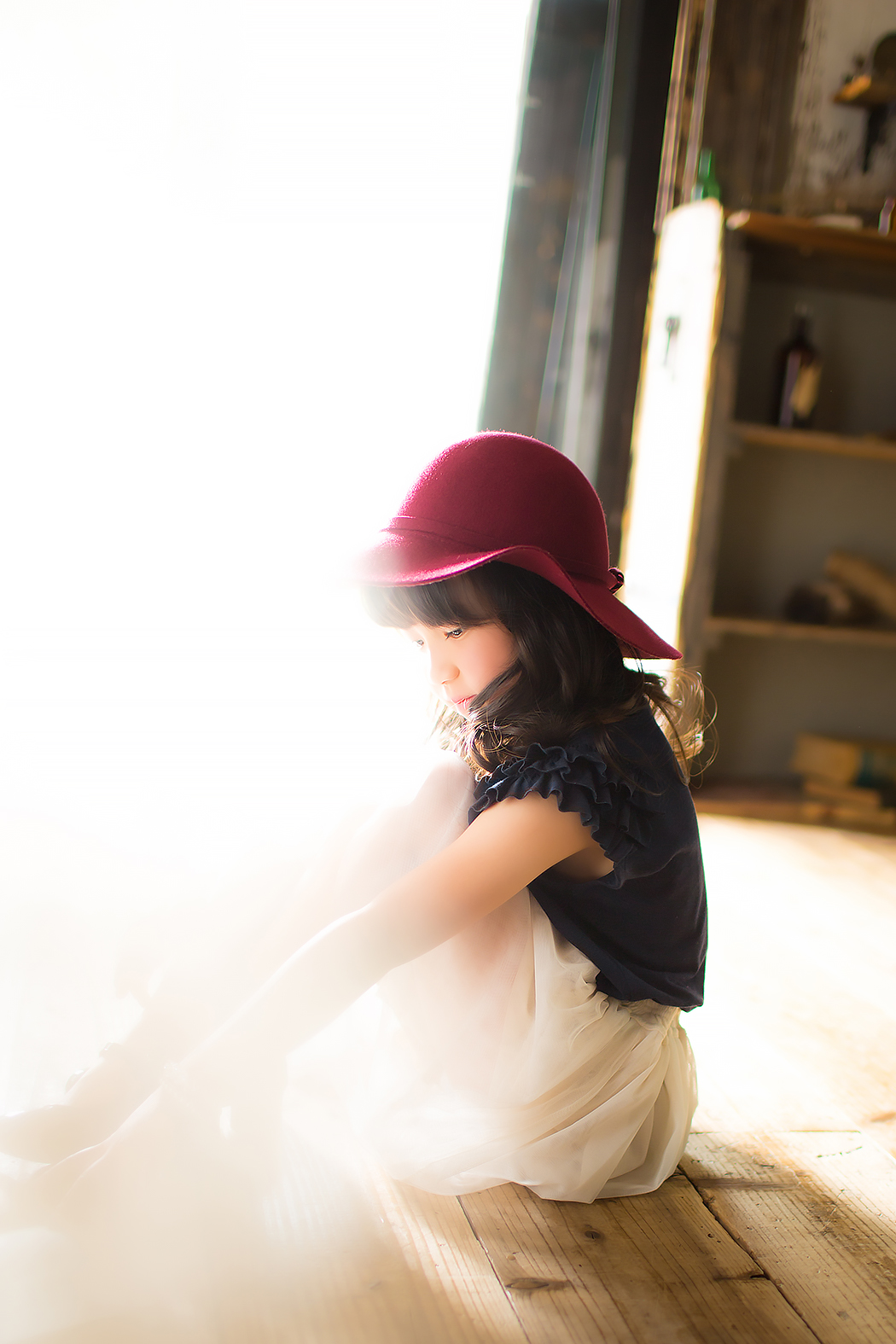 七五三,前撮り,7歳,可愛い,カジュアル服