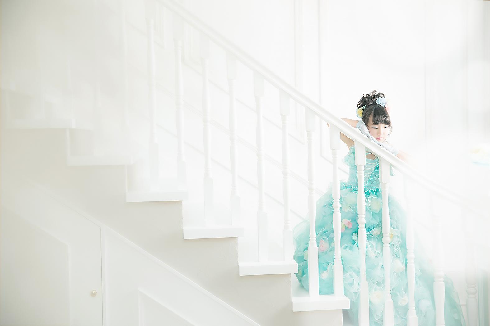 七五三,前撮り,7歳,可愛い,ドレス
