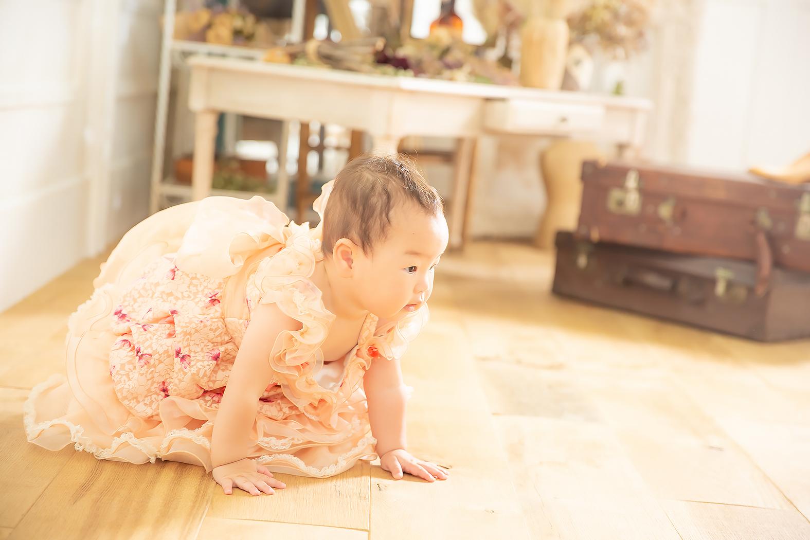 1歳記念,赤ちゃん,ベビードレス