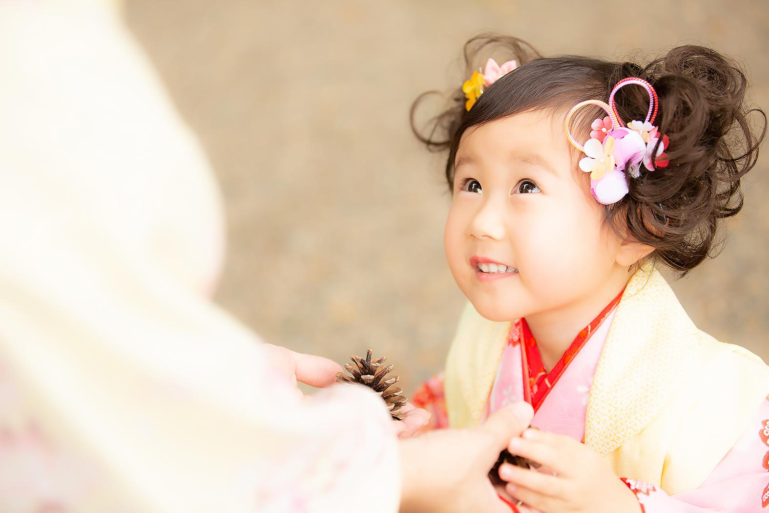 3歳,着物,七五三,神社ロケ