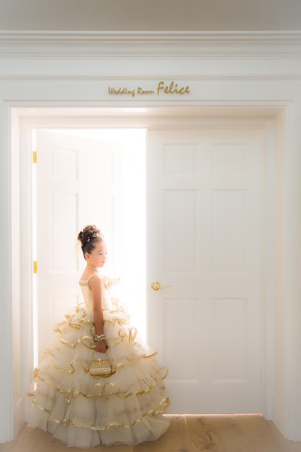 七五三,前撮り,7歳,ドレス