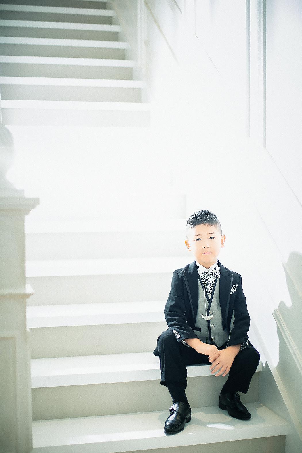 七五三,前撮り,5歳,タキシード