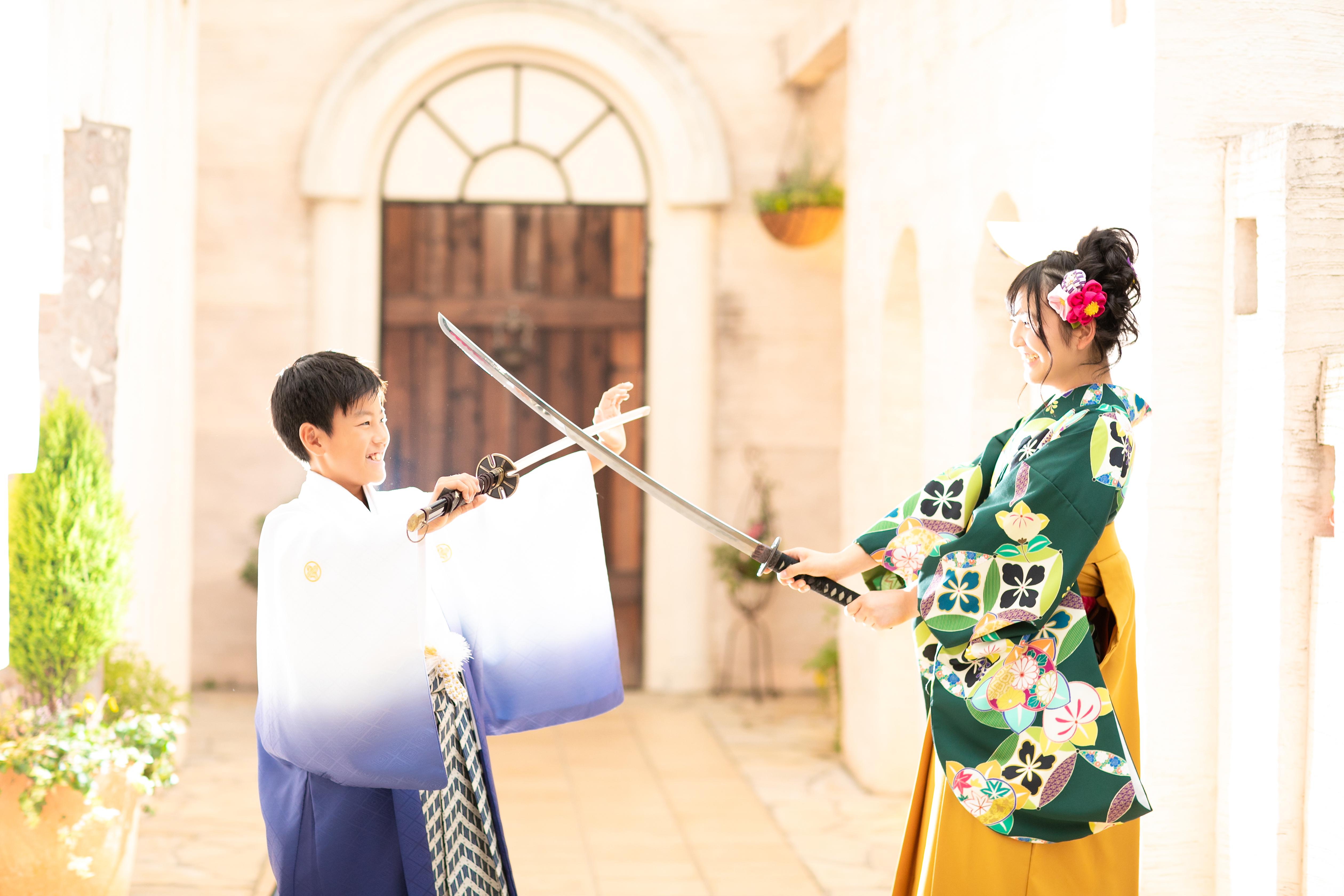 女袴,着物,袴,紋服,姉弟