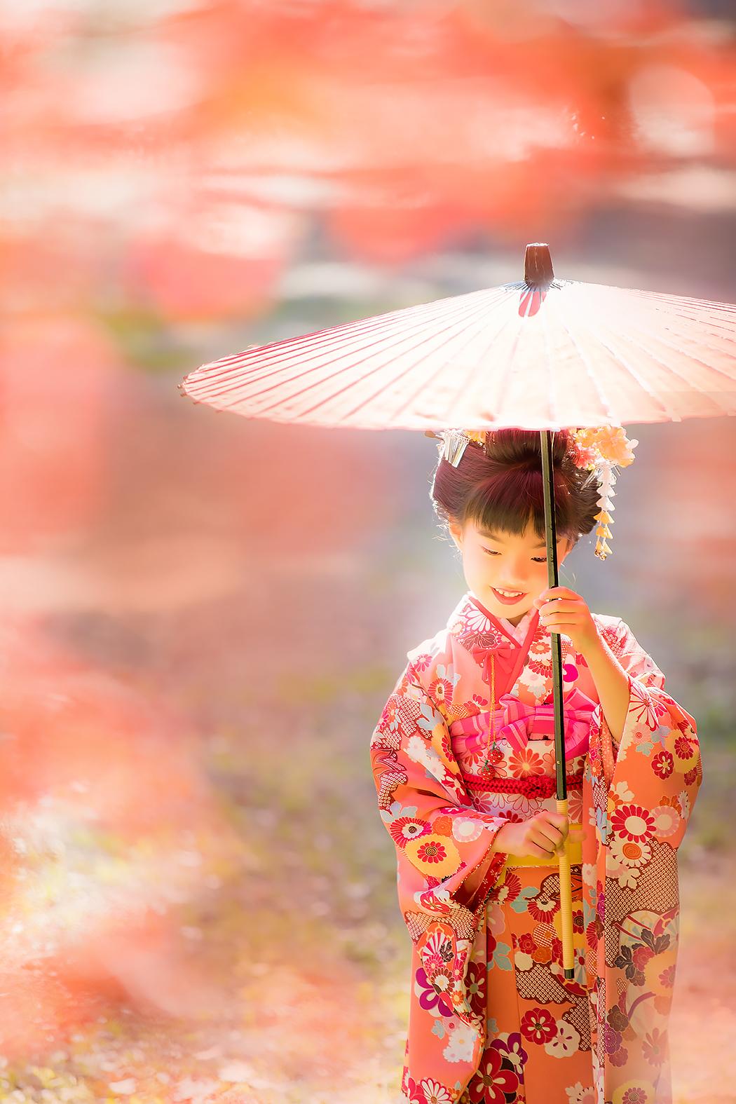 七五三,7歳,神社ロケ