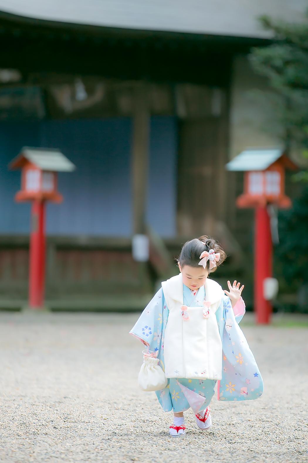 七五三,3歳,神社ロケ