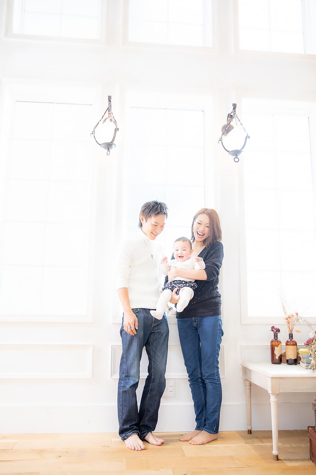 ハーフバースデー、家族写真