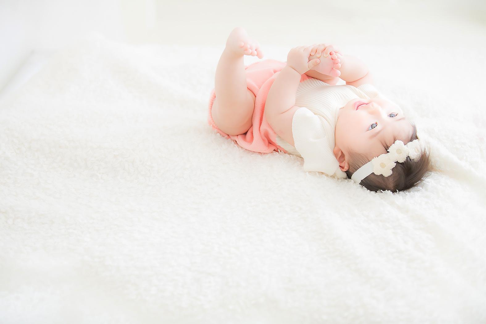 ハーフバースデー,赤ちゃん,記念写真