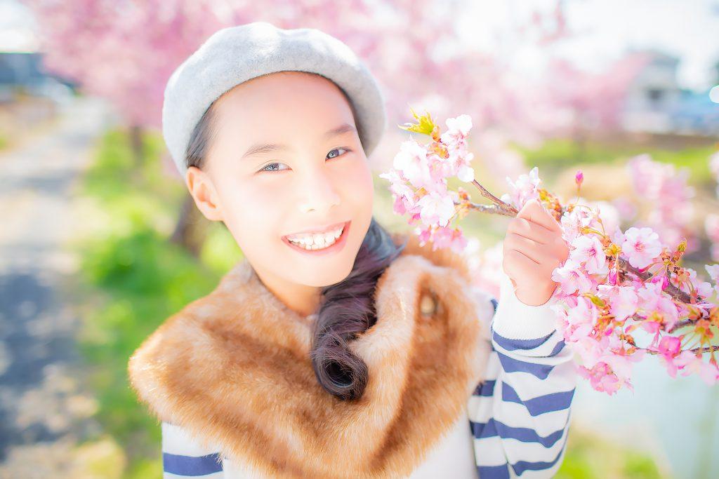 七五三,後撮り,7歳,桜ロケ