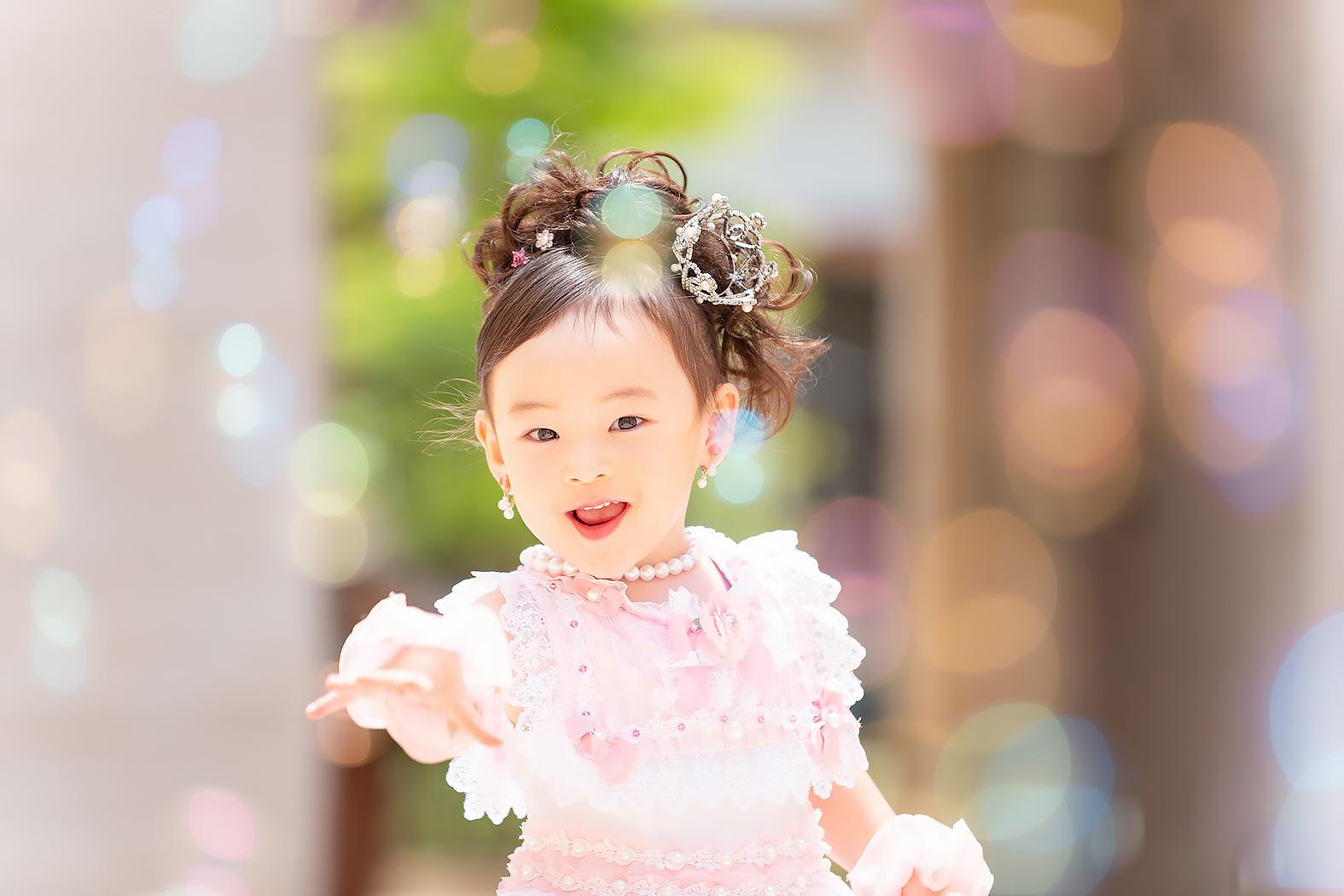 七五三,ドレス,3歳