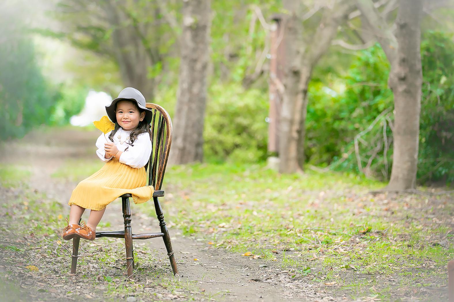3歳,カジュアル,七五三,可愛い,公園ロケ