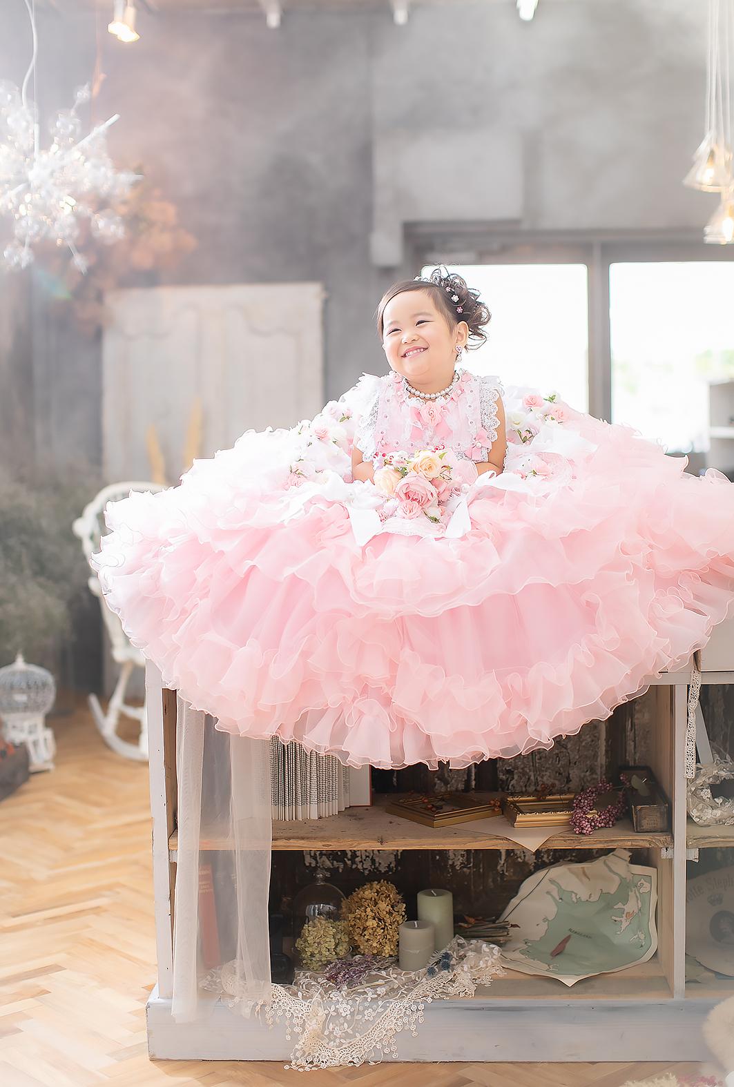 3歳,ドレス,七五三,可愛い